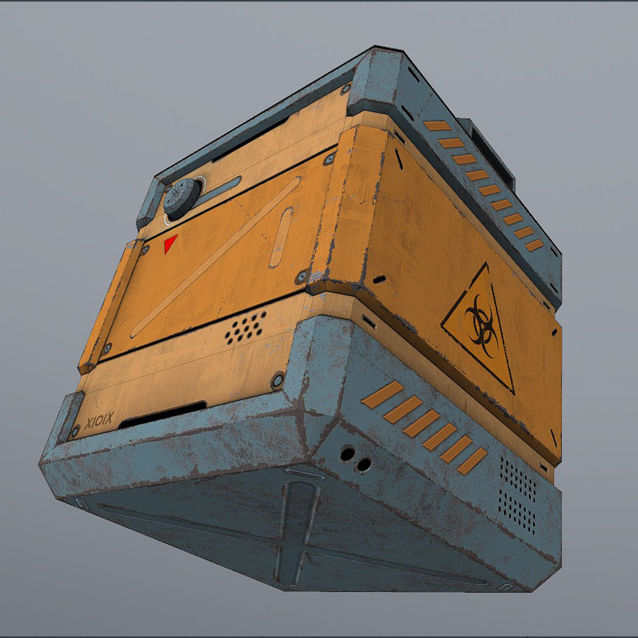 Sci-fi Biohazard Container royalty-free 3d model - Preview no. 7