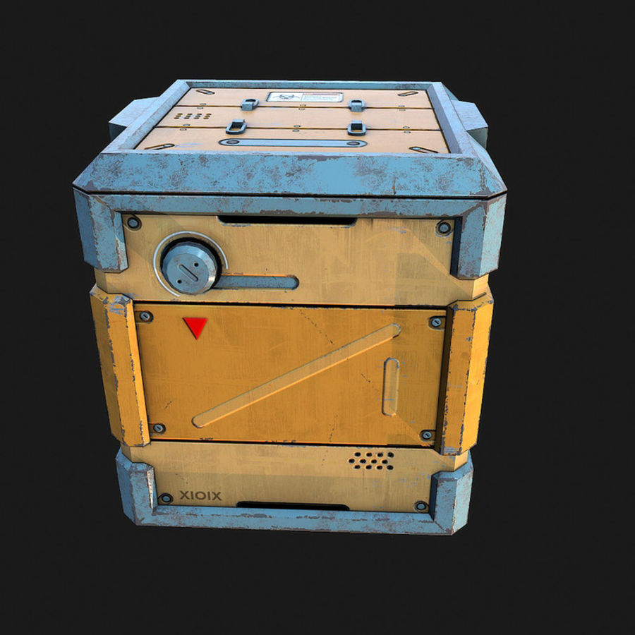 Sci-fi Biohazard Container royalty-free 3d model - Preview no. 3