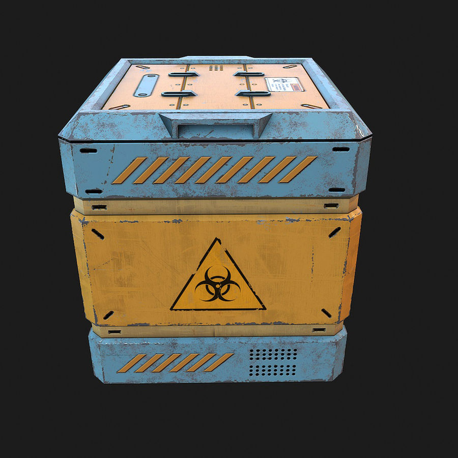 Sci-fi Biohazard Container royalty-free 3d model - Preview no. 2
