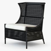 Marco Rattan Chair 3d model