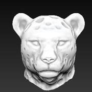 Leopard head 3d model