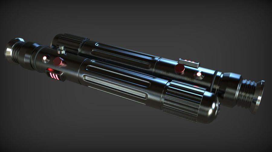 Keiran Halcyon Jedi Guardian Lightsaber royalty-free 3d model - Preview no. 11