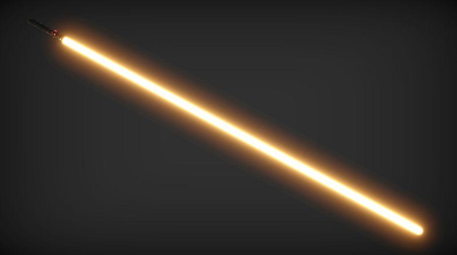Keiran Halcyon Jedi Guardian Lightsaber royalty-free 3d model - Preview no. 21
