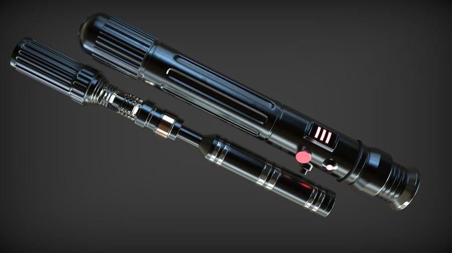 Keiran Halcyon Jedi Guardian Lightsaber royalty-free 3d model - Preview no. 18