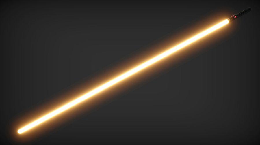 Keiran Halcyon Jedi Guardian Lightsaber royalty-free 3d model - Preview no. 22