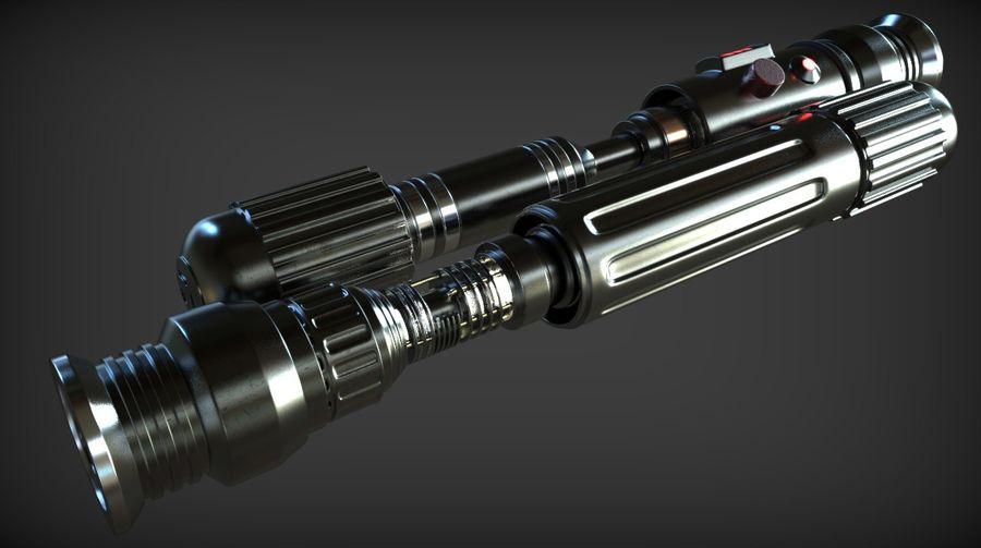 Keiran Halcyon Jedi Guardian Lightsaber royalty-free 3d model - Preview no. 1