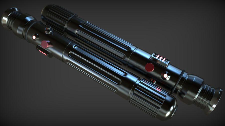 Keiran Halcyon Jedi Guardian Lightsaber royalty-free 3d model - Preview no. 12