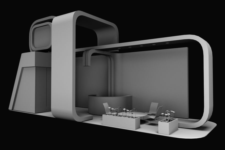 exhibition stand 1 royalty-free 3d model - Preview no. 4