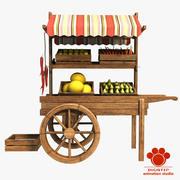 Fruit Cart 3d model