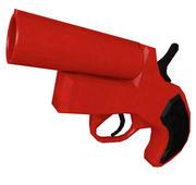 Pistola lanciarazzi 3d model