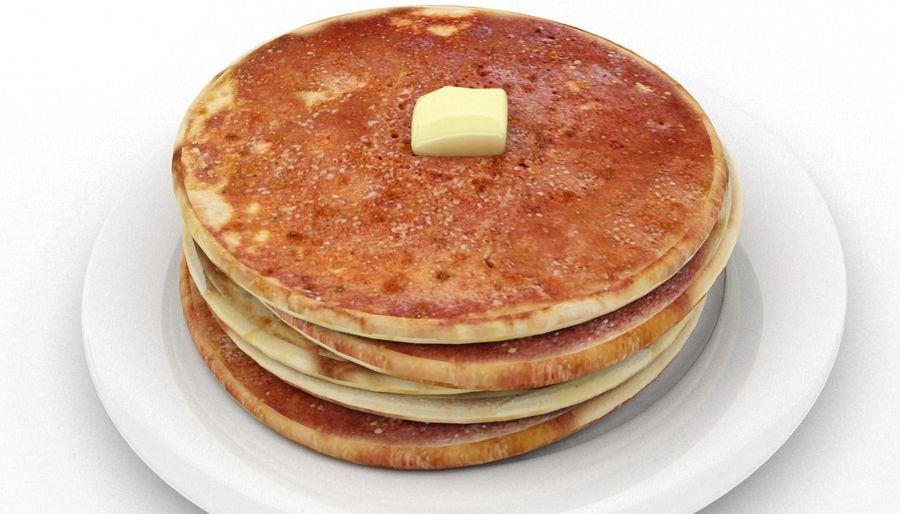 Pancakes royalty-free 3d model - Preview no. 2