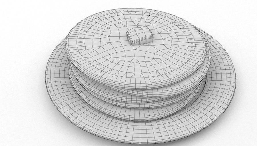 Pancakes royalty-free 3d model - Preview no. 8