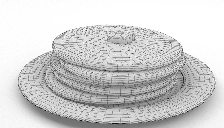 Pancakes royalty-free 3d model - Preview no. 7