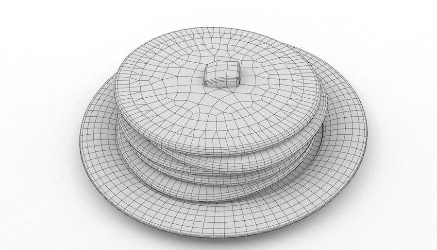 Pancakes royalty-free 3d model - Preview no. 6