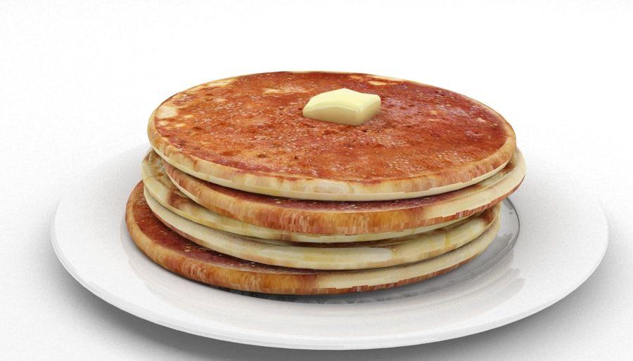 Pancakes royalty-free 3d model - Preview no. 4
