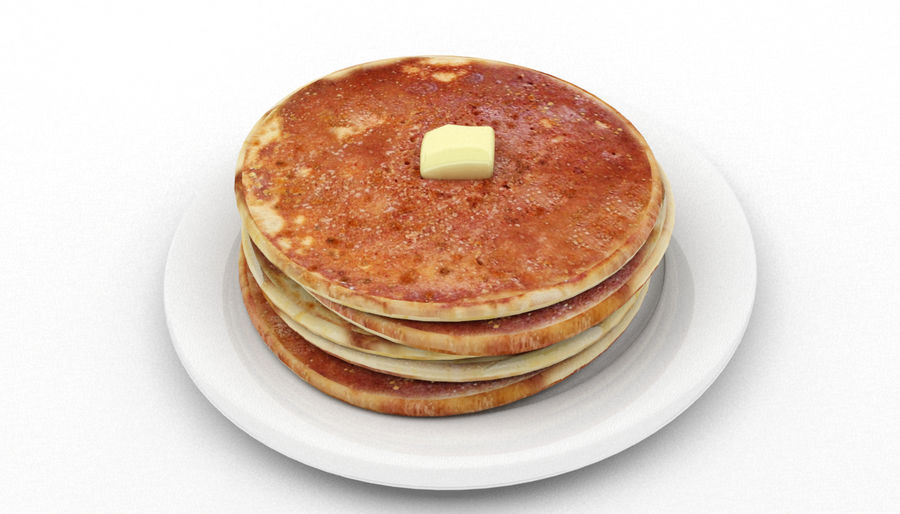 Pancakes royalty-free 3d model - Preview no. 3