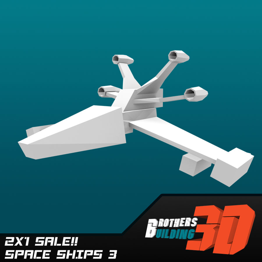 SpaceShips 2 royalty-free 3d model - Preview no. 5