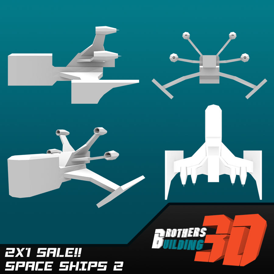 SpaceShips 2 royalty-free 3d model - Preview no. 1