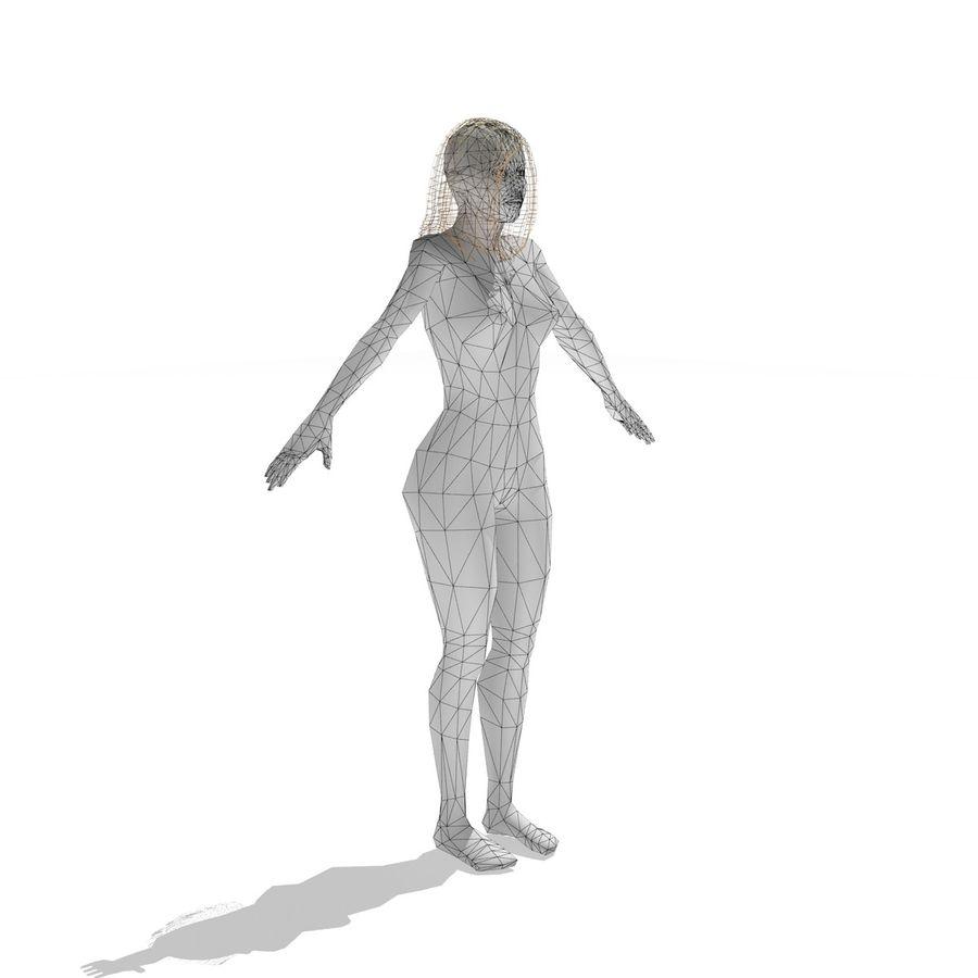 mulher sexy baixa poli royalty-free 3d model - Preview no. 7