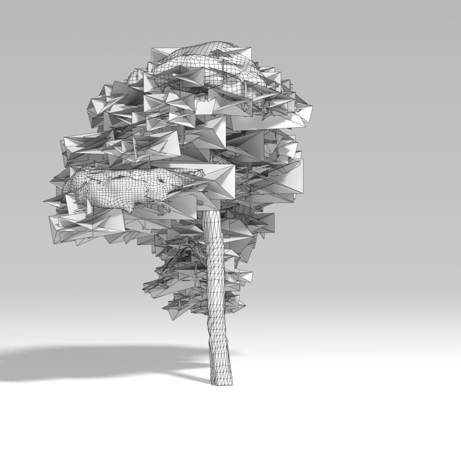 snowtree V1 royalty-free 3d model - Preview no. 11