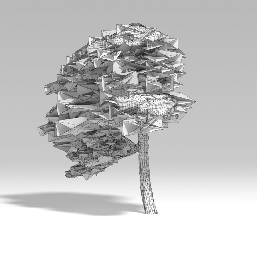 snowtree V1 royalty-free 3d model - Preview no. 10