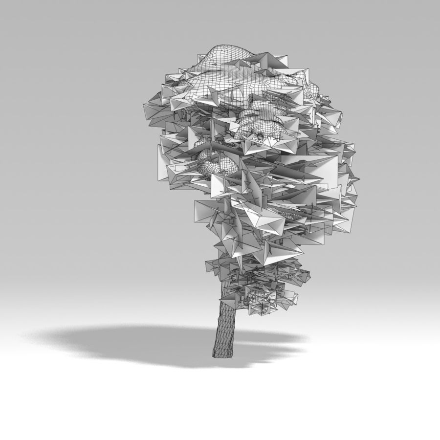 snowtree V1 royalty-free 3d model - Preview no. 7