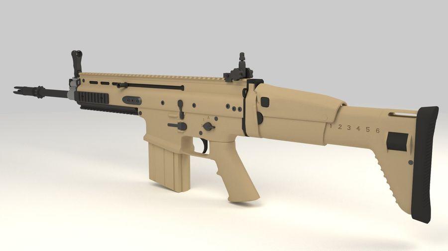 FN SCAR-H royalty-free 3d model - Preview no. 4