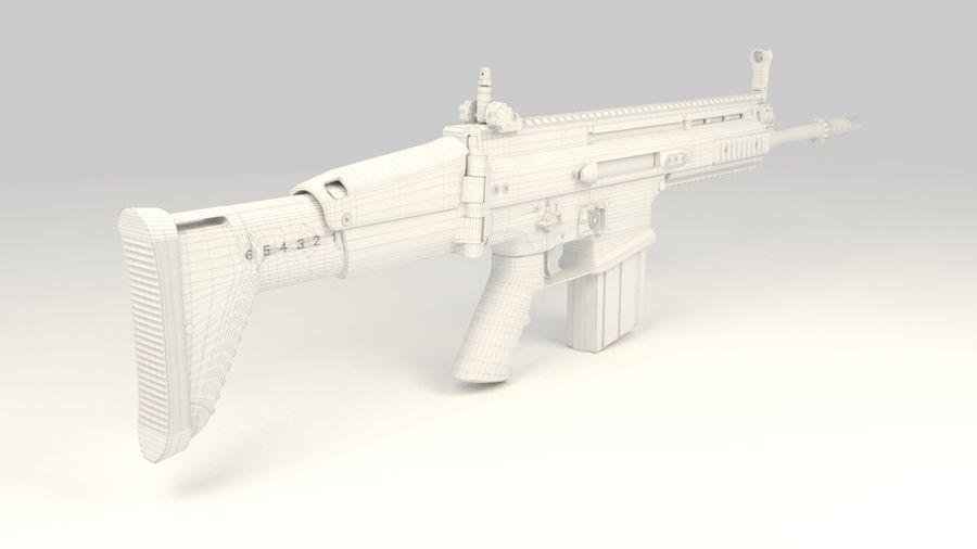 FN SCAR-H royalty-free 3d model - Preview no. 15