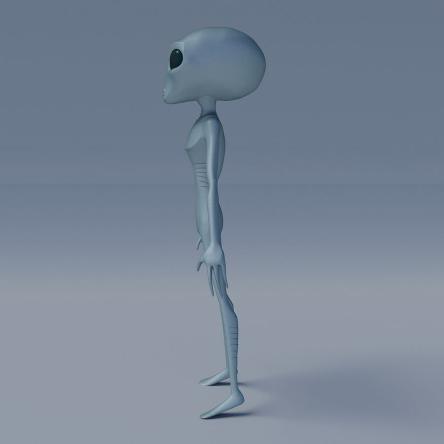 Alien character royalty-free 3d model - Preview no. 3