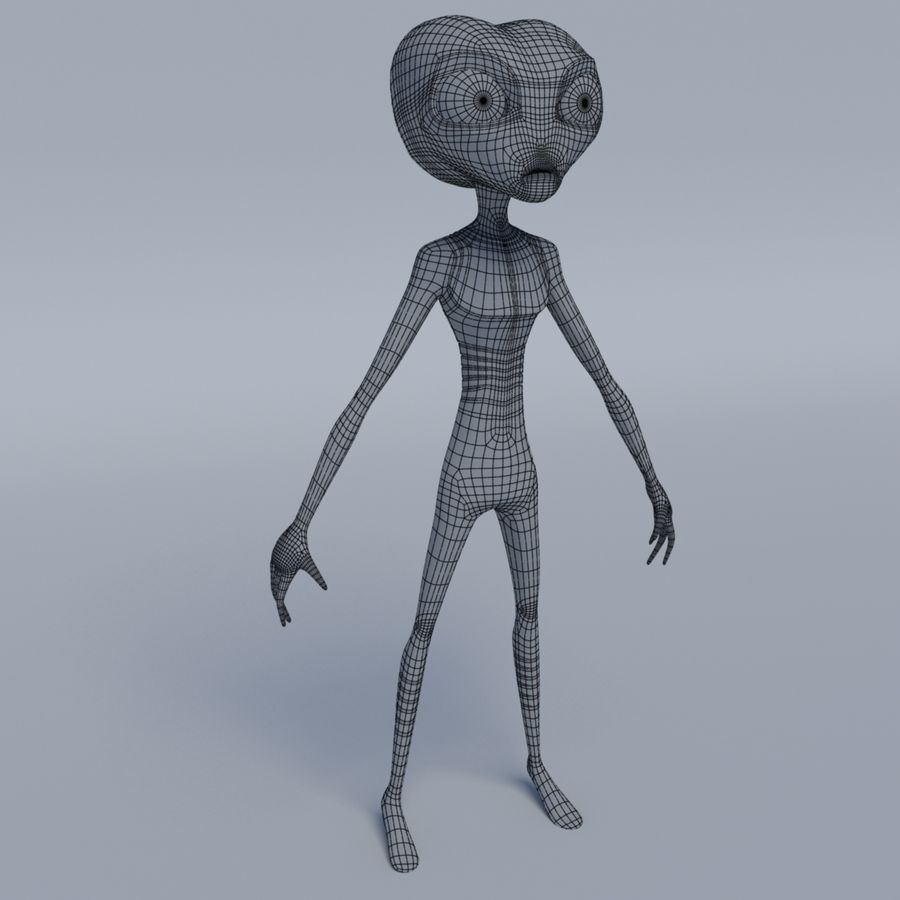 Alien character royalty-free 3d model - Preview no. 5