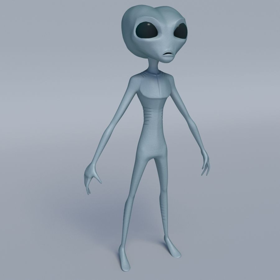 Alien character royalty-free 3d model - Preview no. 1