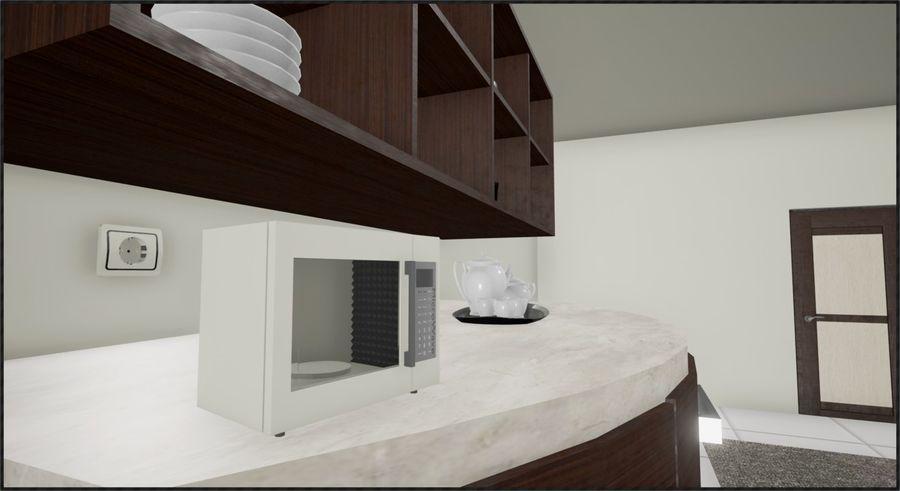 Modern Kitchen royalty-free 3d model - Preview no. 3