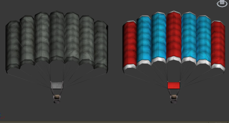 Parachute Game Ready royalty-free 3d model - Preview no. 7