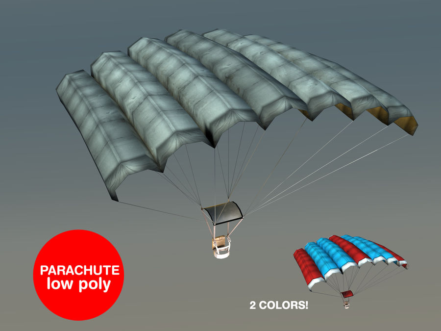 Parachute Game Ready royalty-free 3d model - Preview no. 1