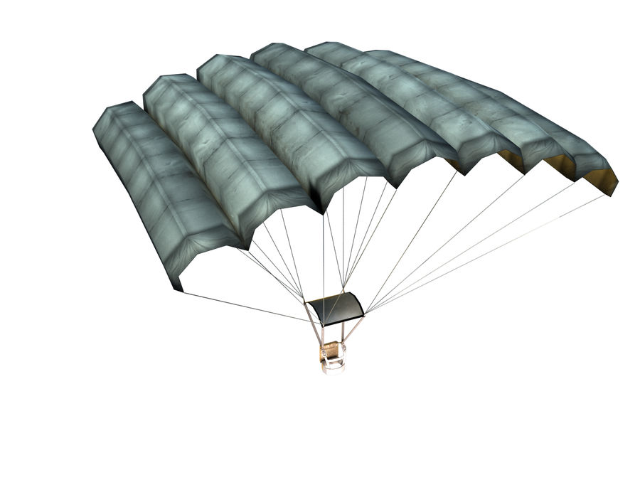 Parachute Game Ready royalty-free 3d model - Preview no. 2