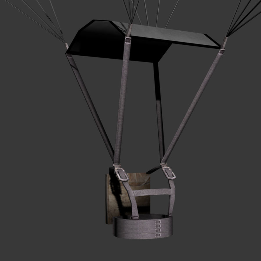 Parachute Game Ready royalty-free 3d model - Preview no. 4