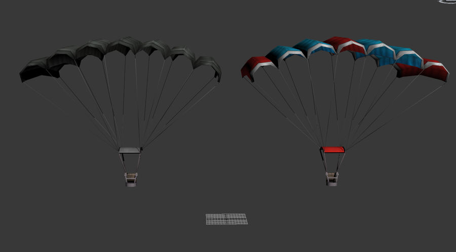 Parachute Game Ready royalty-free 3d model - Preview no. 5