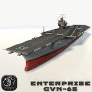 USS enterprise cvn-65 3d model