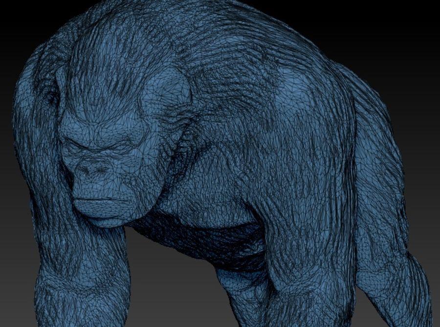 Black Gorilla HiPoly royalty-free 3d model - Preview no. 4
