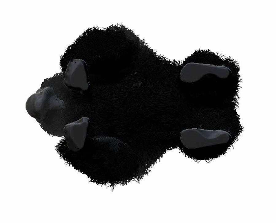 Black Gorilla HiPoly royalty-free 3d model - Preview no. 3