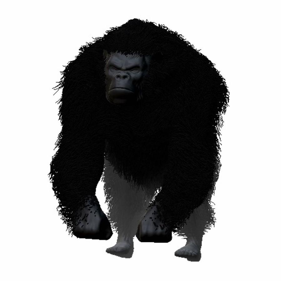 Black Gorilla HiPoly royalty-free 3d model - Preview no. 1