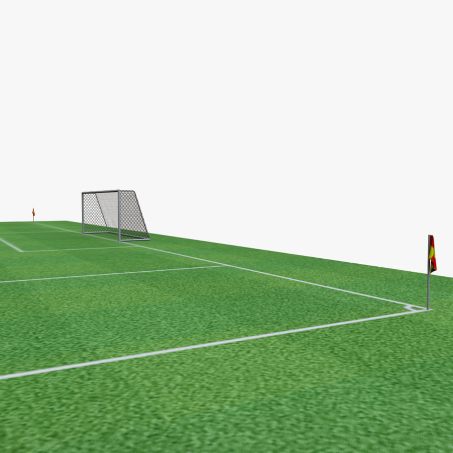 soccer field royalty-free 3d model - Preview no. 4