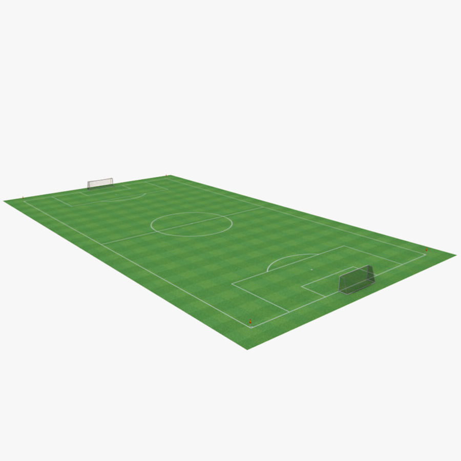 soccer field royalty-free 3d model - Preview no. 2