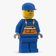 Trabajador hombre lego modelo 3d