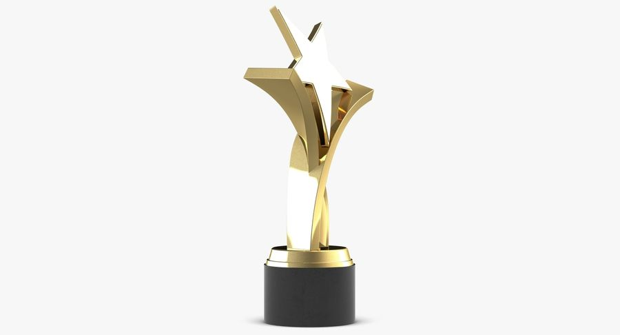 Award Trophy 2 royalty-free 3d model - Preview no. 5