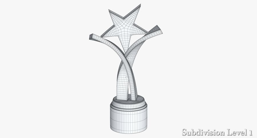 Award Trophy 2 royalty-free 3d model - Preview no. 16
