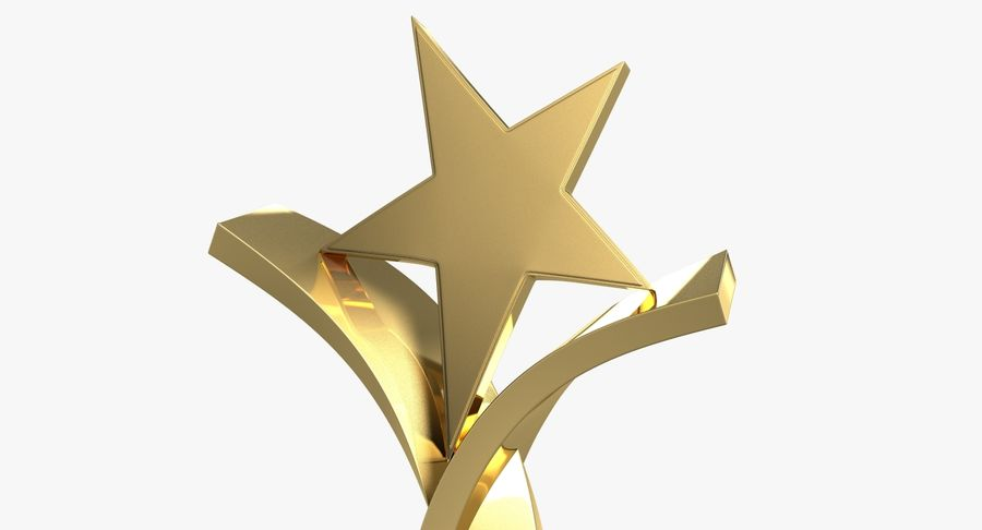 Award Trophy 2 royalty-free 3d model - Preview no. 8