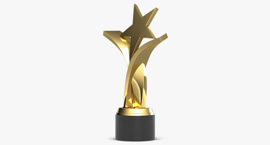 Award Trophy 2 royalty-free 3d model - Preview no. 4