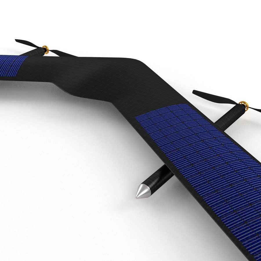 Solar Powered Drone royalty-free 3d model - Preview no. 7