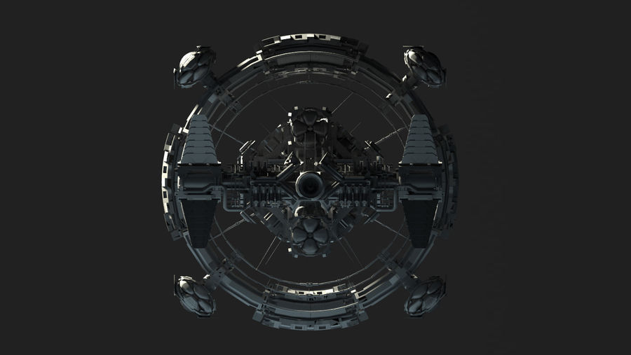 Space Ship royalty-free 3d model - Preview no. 4